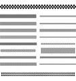 Design elements - text divider line set vector image vector image