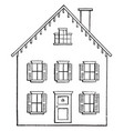 drawing a house 2 using two point perspective vector image vector image