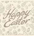 easter lettering pattern vector image vector image