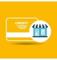 Ecommerce store credit card bank icon
