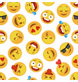 faces smile pattern funny cute smiley expression vector image vector image