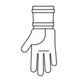 farm glove icon outline style vector image vector image