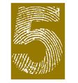 Fingerprint Alphabet No 5 vector image vector image