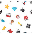 flat cinema icons pattern or background vector image