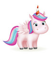 flying horse wings fairytail magic animal cute vector image