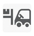 forklift and worker icon on white vector image