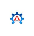 gear arrow logo vector image