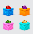 gift boxes for a birthday or new year with bows vector image vector image