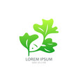 green leaf with fish vector image vector image