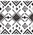 hand drawn tribal seamless pattern vector image vector image