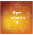 happy thanksgiving day - white on orange vector image