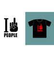 I dont love people I hate people Symbol of hatred vector image vector image