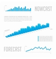 Infographics blue graph with text vector image