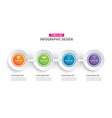 infographics timeline circle paper with 4 data vector image vector image