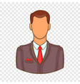 man in suit avatar icon cartoon style vector image vector image
