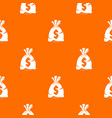 money bag with us dollar sign pattern seamless vector image vector image