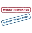 Money Insurance Rubber Stamps vector image vector image