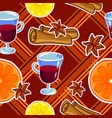 mulled wine seamless pattern vector image vector image
