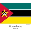National flag of Mozambique with correct vector image vector image