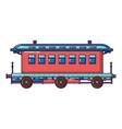 old fashion passenger wagon icon cartoon style vector image
