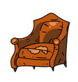 old school chair cartoon hand drawn image vector image vector image