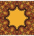 Oriental mandala frame border for text Copyspace
