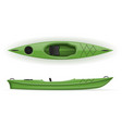 plastic kayak for fishing and tourism vector image vector image
