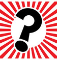 question mark cartoon icon vector image vector image