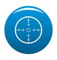 radar icon blue vector image