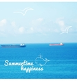realistic sea background vector image vector image