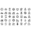recycle factory icons set outline style vector image vector image