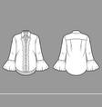 ruffled shirt technical fashion vector image vector image