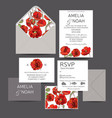 save the date invitation wedding vector image vector image