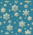 seamless christmas background from snow flakes vector image vector image