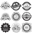 set of bicycle repair shop labels and vector image vector image