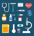 Set of Flat Style Medical Icons and Objects vector image vector image