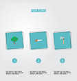 set of horticulture icons flat style symbols with vector image vector image