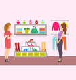 shopping women in accessories boutique vector image vector image