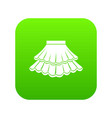 skirt icon digital green vector image