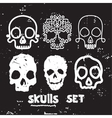 skull set design element vector image vector image
