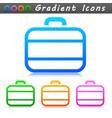 suitcase symbol icon design vector image