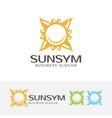 sun symbol logo design vector image