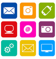 Technology Internet Communication Icons Set vector image vector image