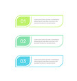 three steps infographic elements colorful vector image vector image