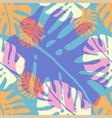 tropical monstera vector image