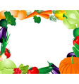 vegetable frame vector image vector image