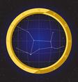 virgo star horoscope zodiac in fish eye vector image vector image
