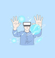 virtual reality ai business future concept vector image vector image