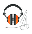 wired headphones accessory for music listening or vector image vector image