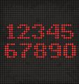 LED Display Scoreboard Dot Grunge Digits vector image